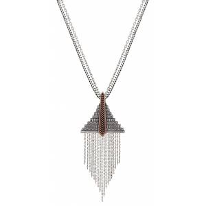 Rock 47 Points of Aztec Fringed Pyramid Necklace