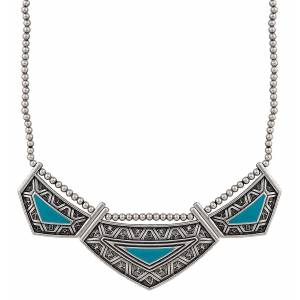 Rock 47 Points of Aztec Turquoise Collar Necklace