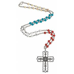 Rock 47 Vintage Kitsch Scalloped Cross Necklace