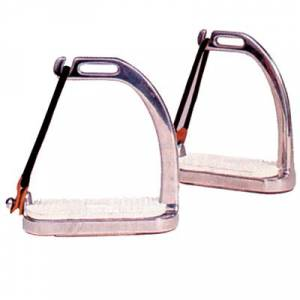 Coronet Peacock Stirrup Irons with Pads