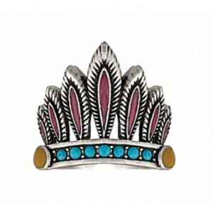 Rock 47 Tribal Flair Headdress Fashion Ring