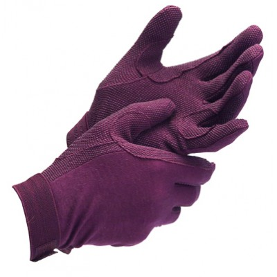 Shires Equestrian Adult  Newburry Cotton Pimple Grip Gloves