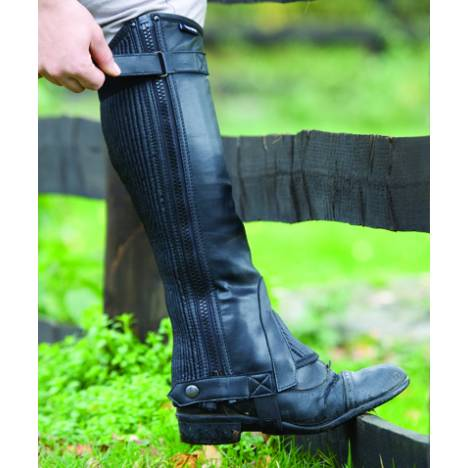 Shires Equestrian Synthetic Half Chaps - Adult