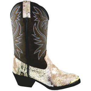 Smoky Mountain Youth Cody Snake Print Western Boot