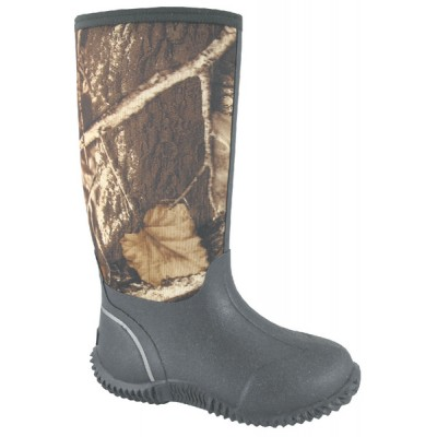 """Smoky Boots Camo Amphibian 12"""" Boots - Youth, Brown/Camo"""