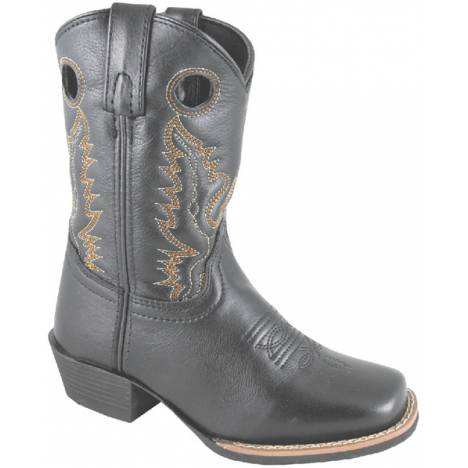 Smoky Mountain Mesa Leather Western Boots - Youth, Black