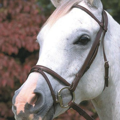 Stubben Lined Snaffle Bridle with Flash Noseband