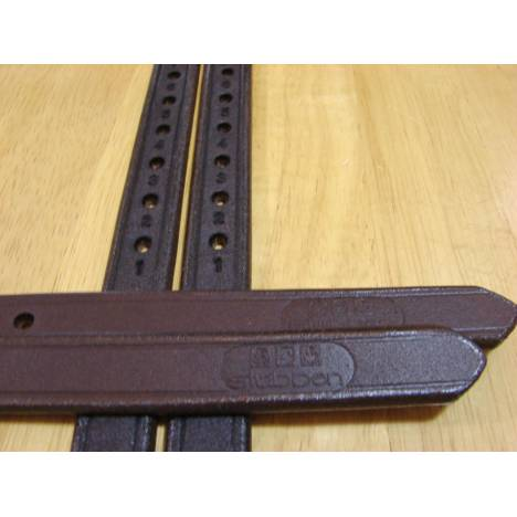 "Stubben 3/4"" XLong Black Stirrup Leathers"