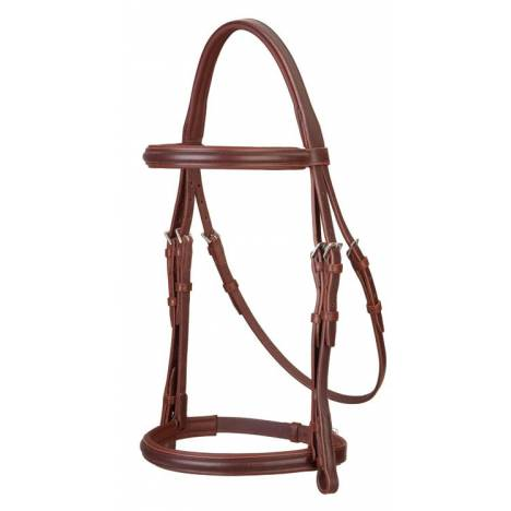 Stubben 1/2'' Cheek Snaffle Bridle with Padded Crown and Browband