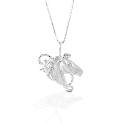Kelly Herd Horsehead Necklace - Sterling Silver