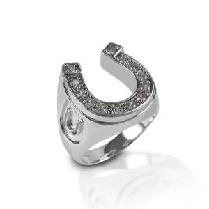 Kelly Herd Men's Horseshoe Ring - Sterling Silver