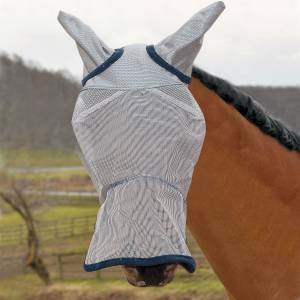 Defender Fly Mask Long Nose with Ears and Reflect
