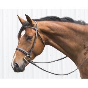 OEQ Mono Crown Hunter Bridle with  Laced Reins
