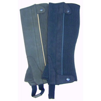 Clarino Adult Half Chaps with Contrast Piping