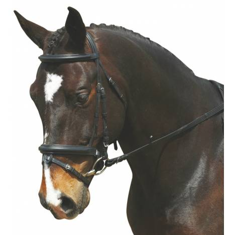 Collegiate Comfort Crown Padded Crank Bridle with Removable Flash